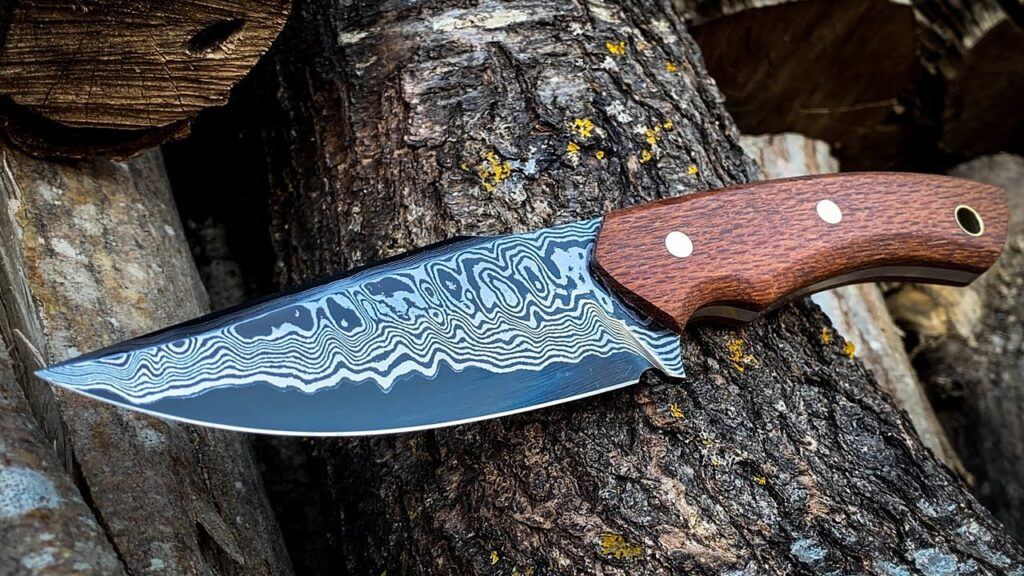 Knife making : Damascus Hunting Knife